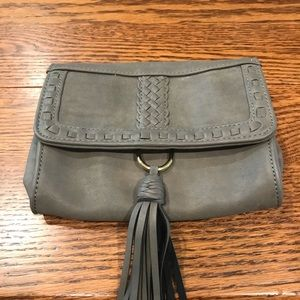 Grey Mossimo Clutch/Over the Shoulder bag